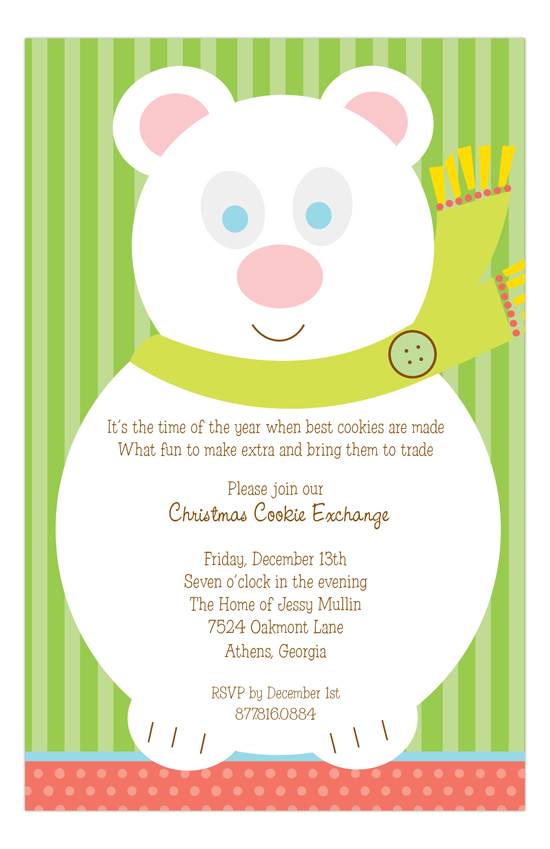 Mr. Polar Bear Invitation
