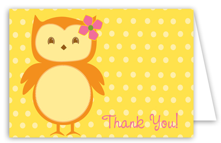 Ms. Owl Note Card
