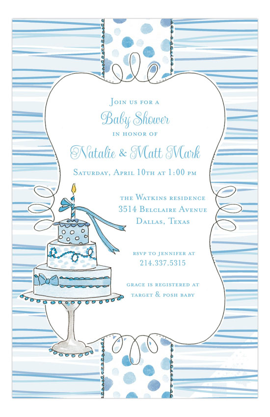 My First Blue Invitation