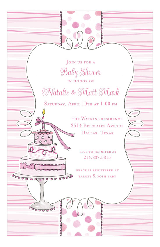 My First Pink Invitation