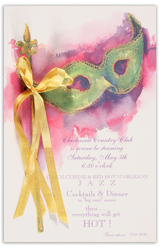 Mystery Mask Invitation