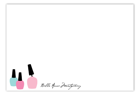 Nail Polish Prep Flat Note Card