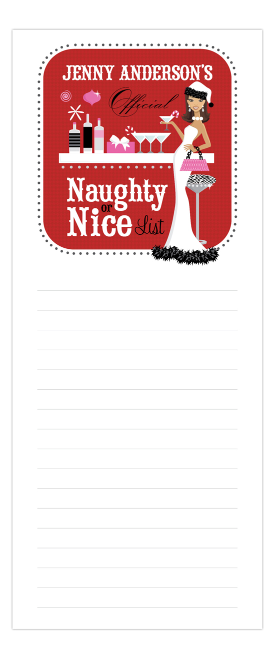 Naughty or Nice African-American Notepad