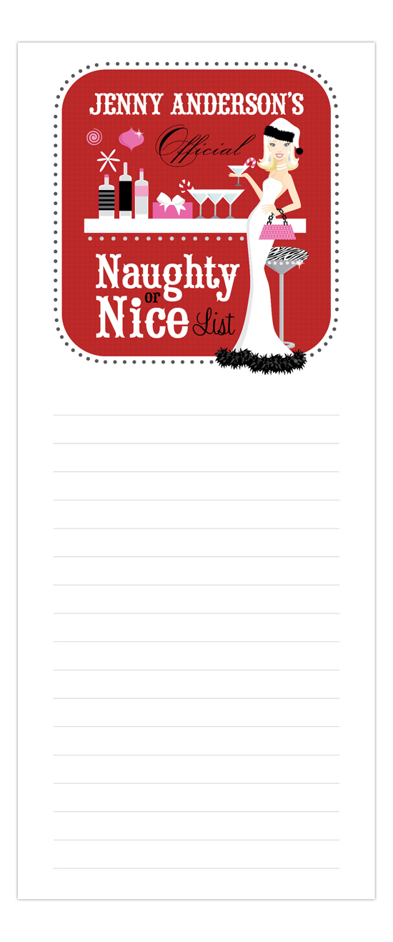 Naughty or Nice Blonde Notepad