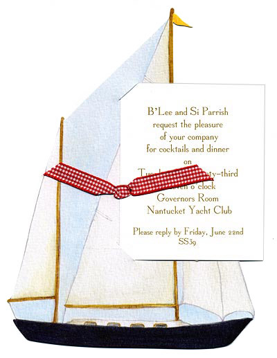 Nautical Sailing Invitation