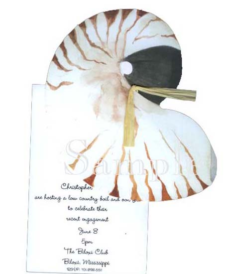 Nautilus Shell Invitation