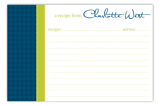 Navy Cheer Recipe Card