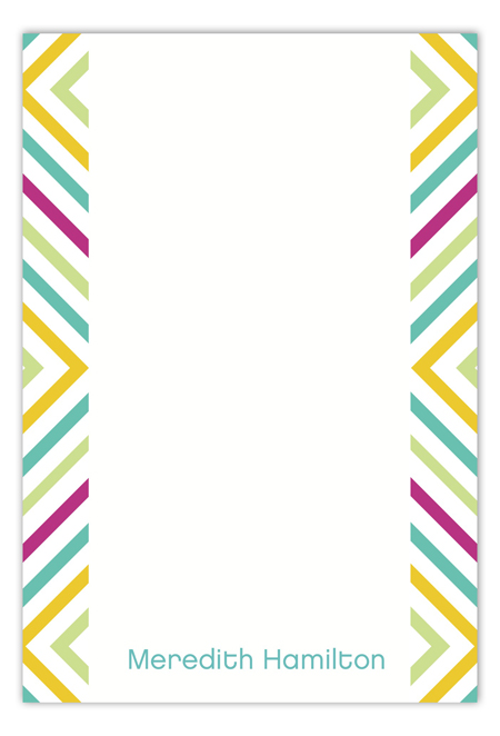 Neon Graphic Sides Flat Note Card