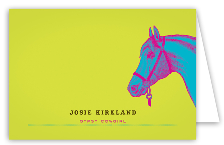 Neon Horse Note Card