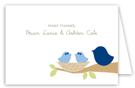 Nested Twin Boys Folded Note Card