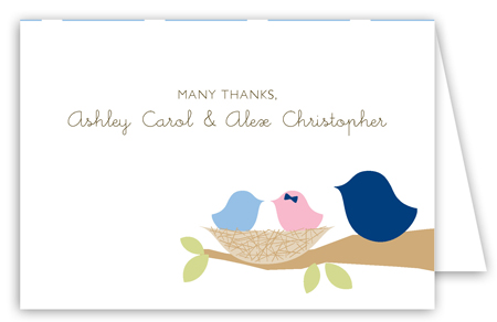 Nested Twins Folded Note Card