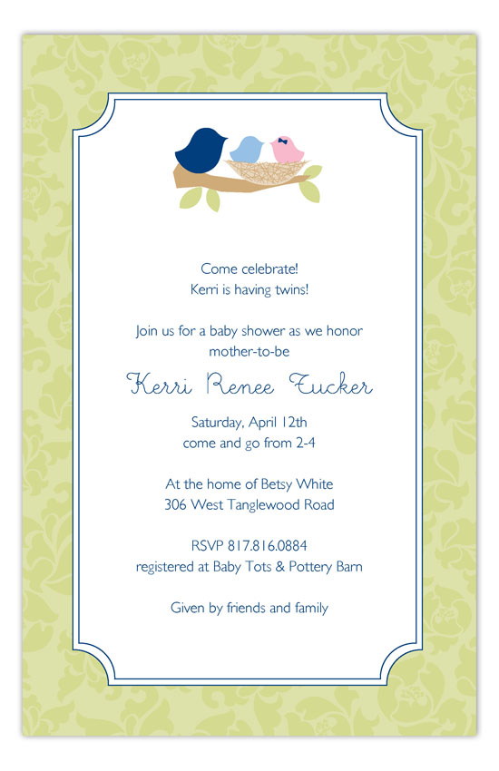 Nested Twins Invitation