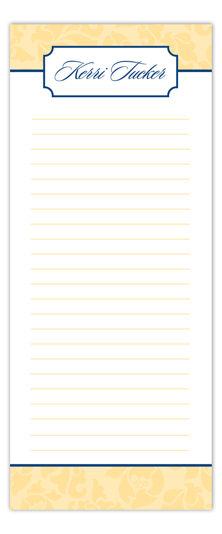 Nested Yellow Notepad