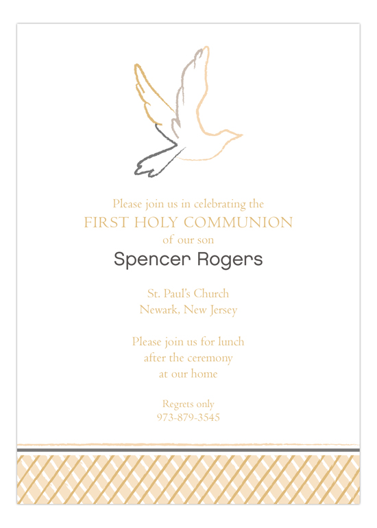 Neutral Dove Invitation