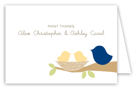 Neutral Nested Twins Folded Note Card