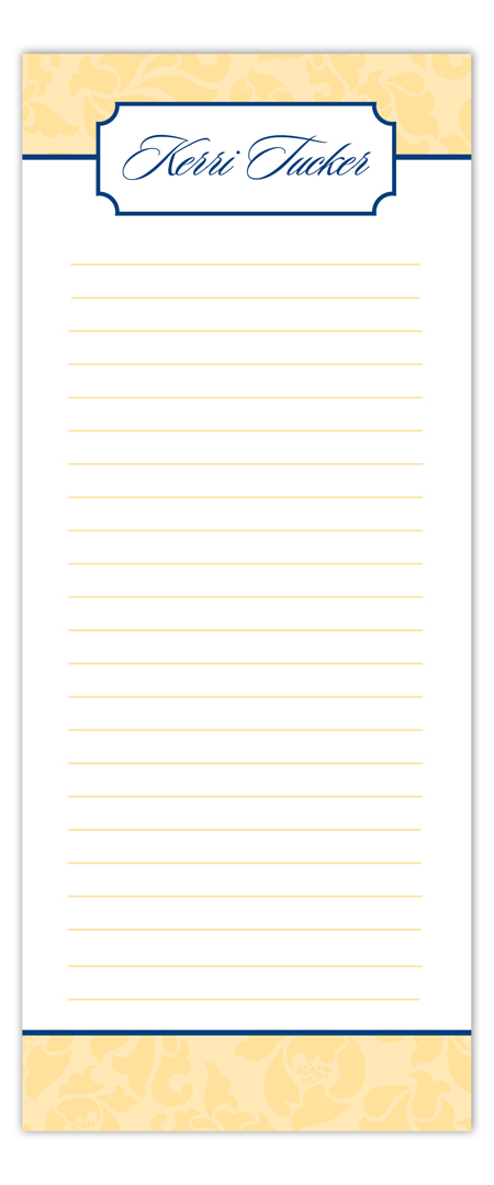 Neutral Yellow Notepad