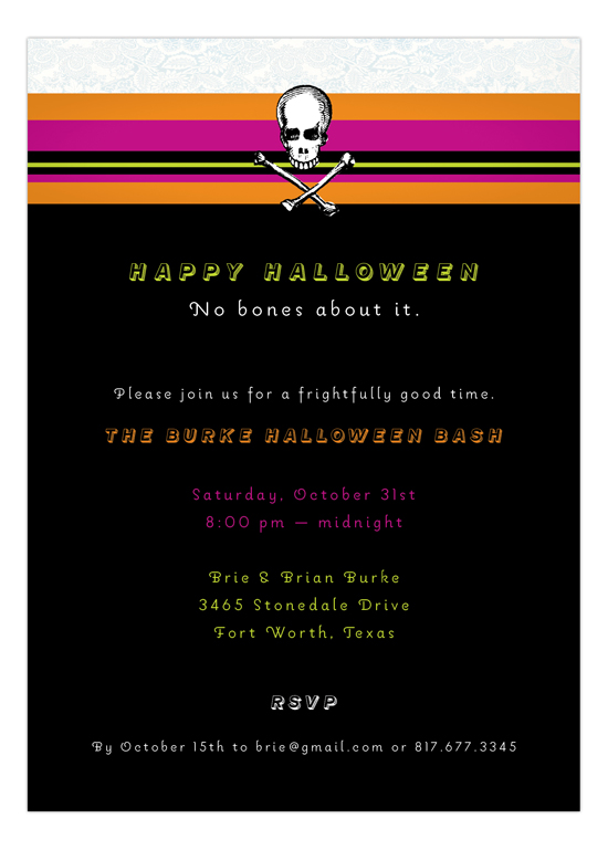 No Bones About It Invitation