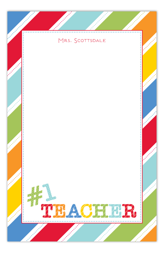 No. 1 Teacher Notepad