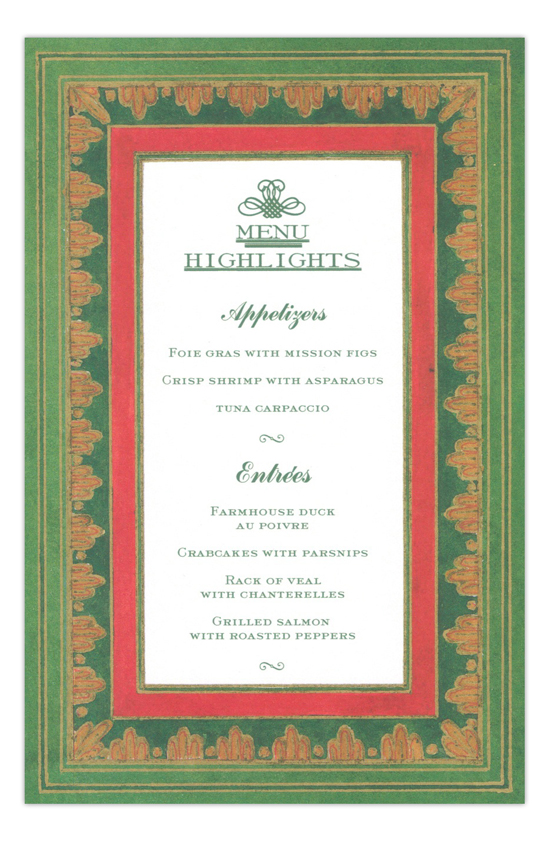 Bellini Border Holiday Party Invitation