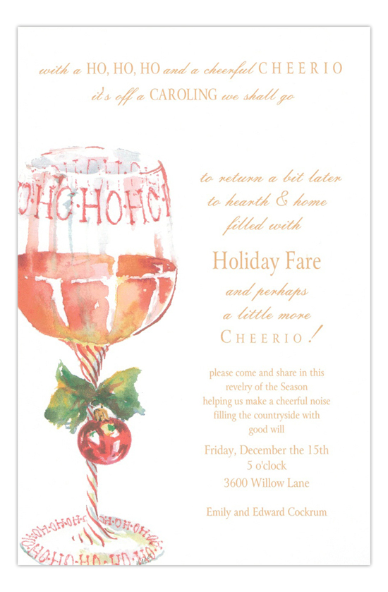 Ho Ho Ho Holiday Party Invitation