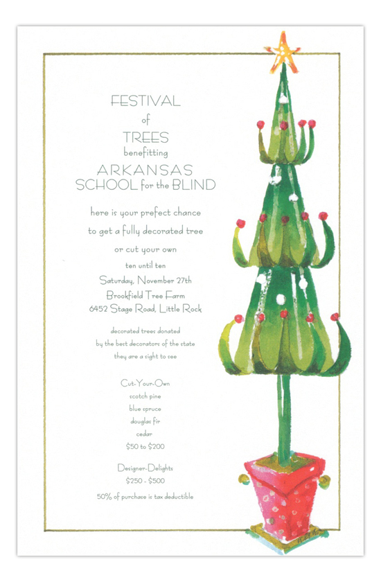 Dr Zoous Tree Holiday Party Invitation