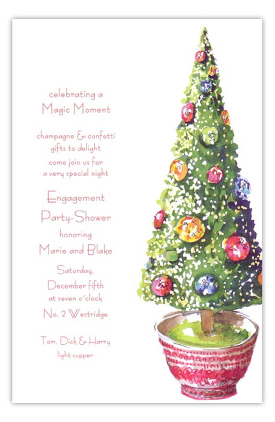 Cup of Tree Holiday Party Invitation