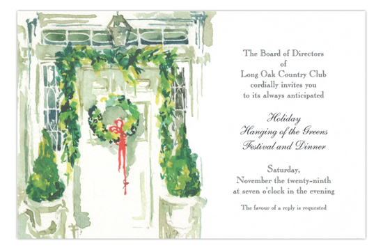 Winter Greens Holiday Party Invitation