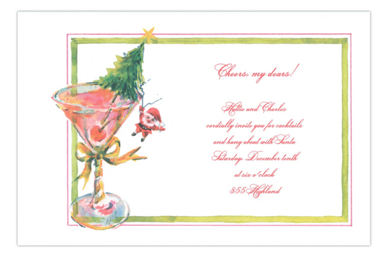 Hang Out With Santa Holiday Party Invitation