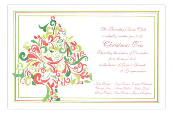 Hollys Tree Holiday Party Invitation
