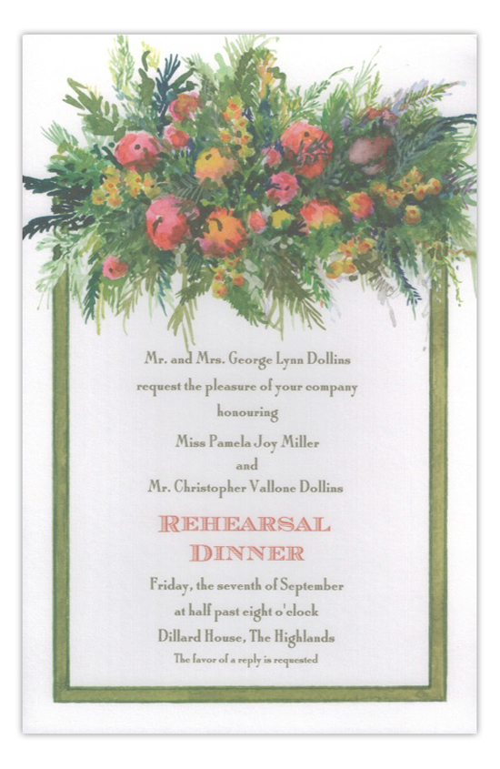 Natures Display Rehearsal Dinner Invitation