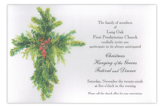 Cross of Green Holiday Dinner Invitation