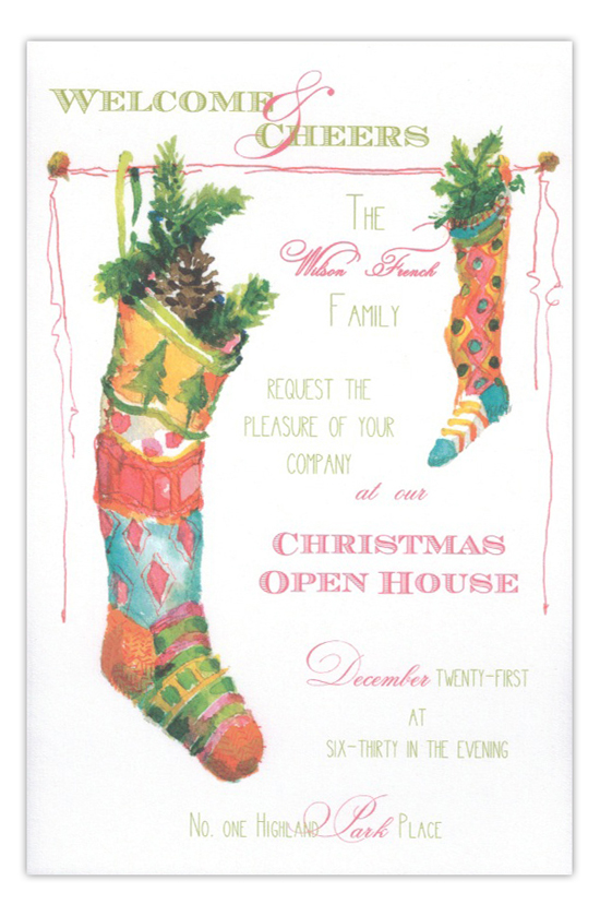Nordic Knits Stockings Holiday Invitation