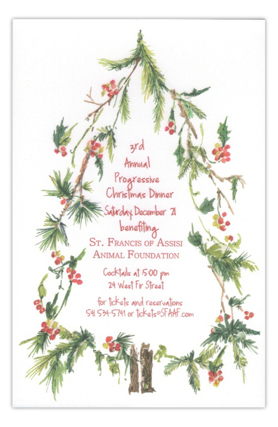 Woodland Tree Progressive Dinner Invitation