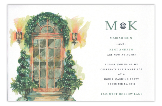 Urned Entry Holiday House Warming Invitation