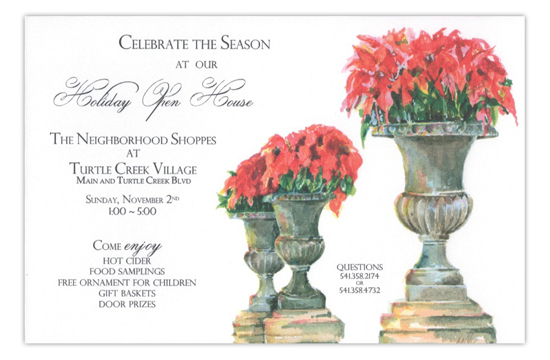 Poinsettia Parade Open House Holiday Invitation