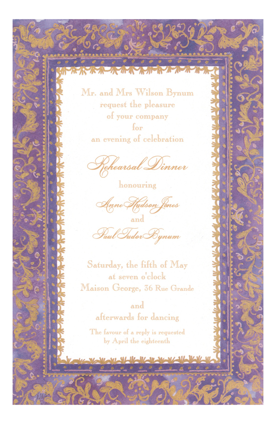 Faux-Tuny Grape Invitation