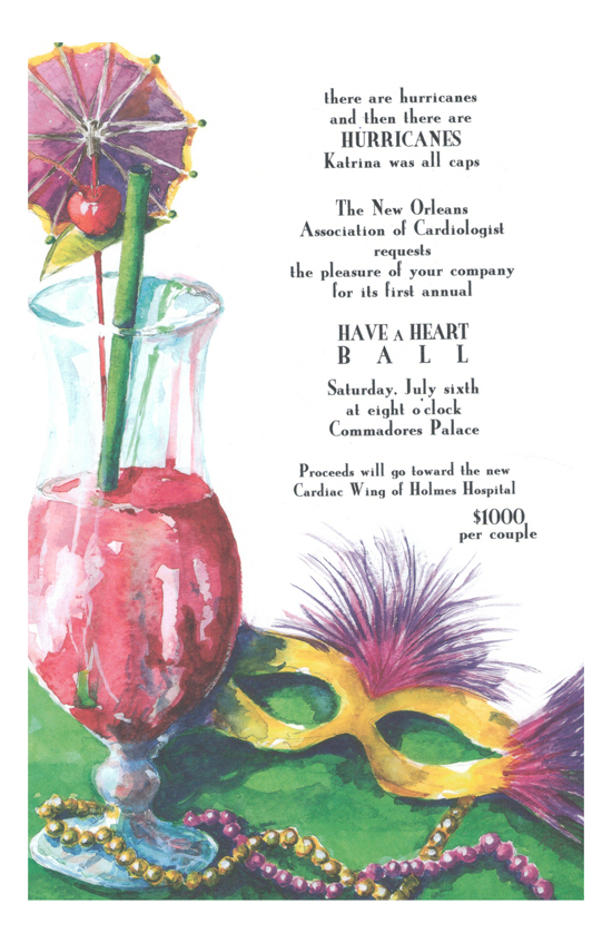 Fat Tuesday Invitation