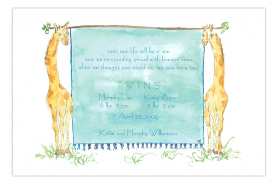 Giraffes Party Invitation