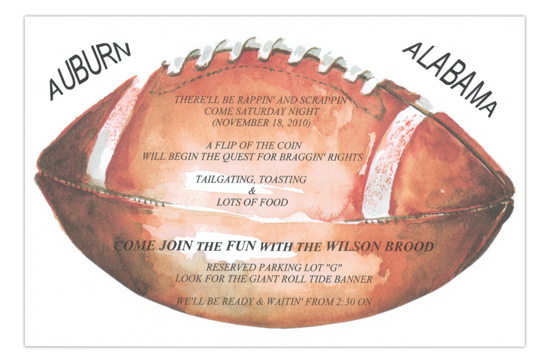 Down Set Hut Football Party Invitation