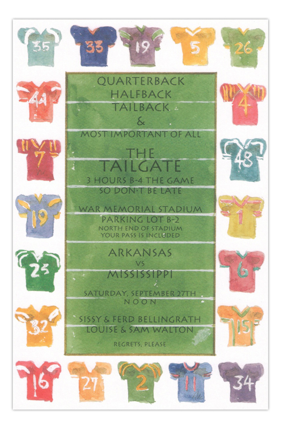 Pick Your Team Football Party Invitation