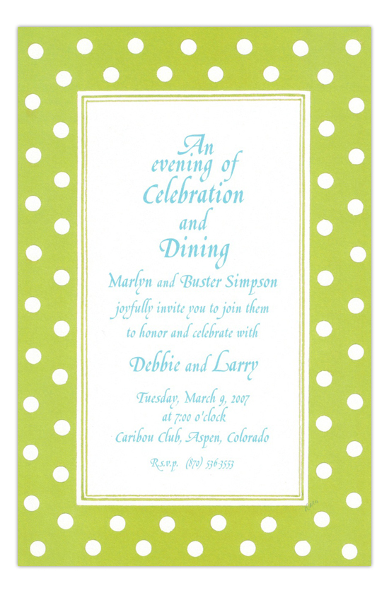 Hokey Pokey Lime Green Party Invitation