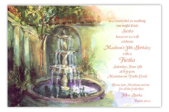 Loggia Fiesta Party Invitation
