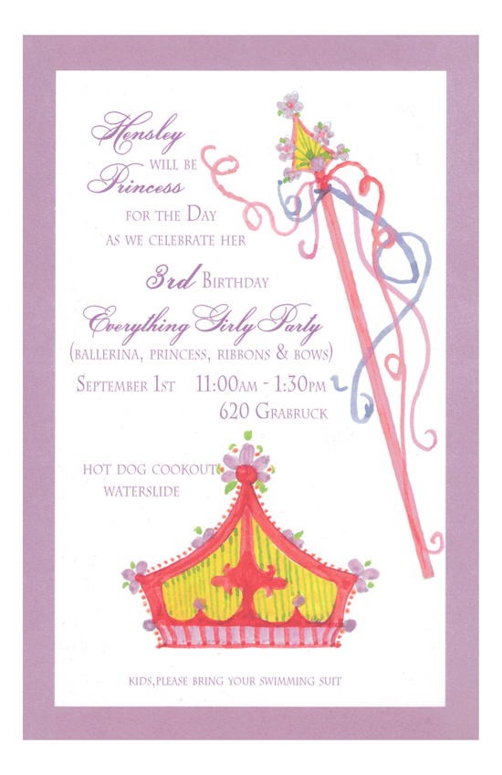 Royalty Crown Online Birthday Invitations