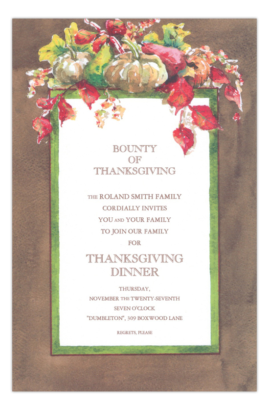 Autumn Array Thanksgiving Pumpkin Party Invitation