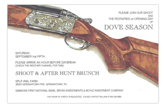 Over and Under Rifle Gun Party Invitation