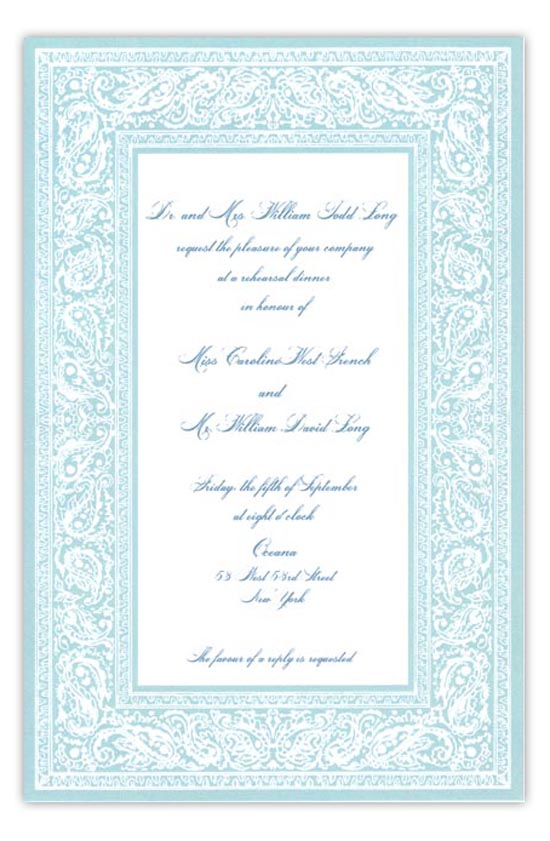 bandana blue summer cookout invitation