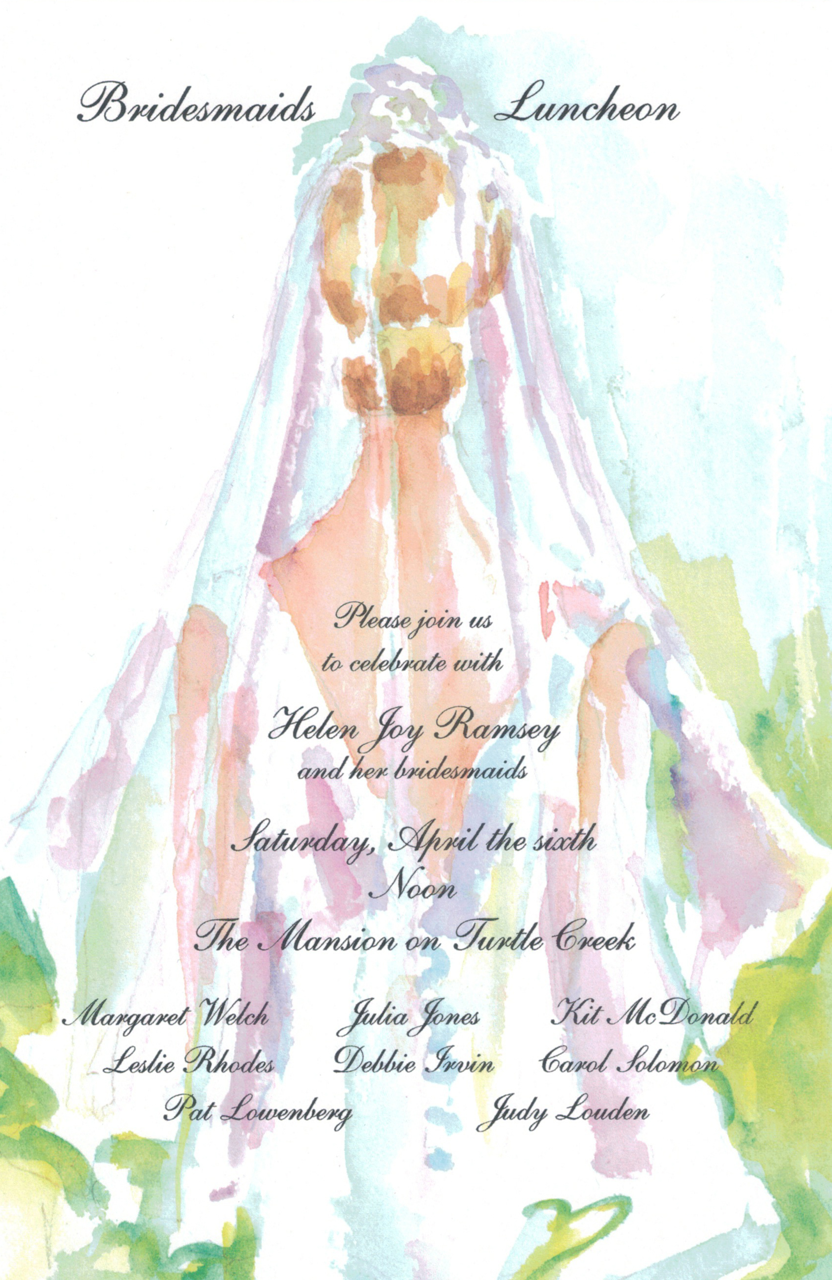 Tulle Bridal Shower Invitation