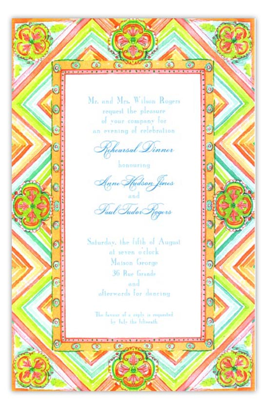 Mandarin Fiesta Party Invitation