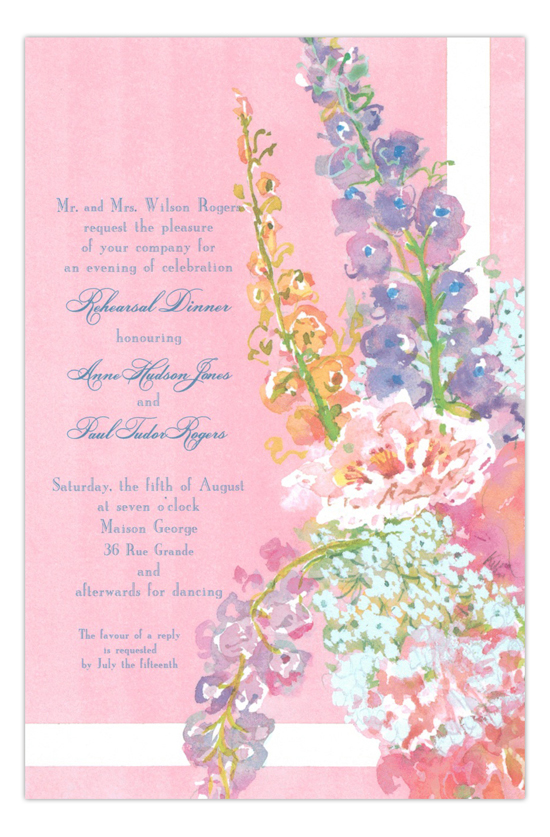 Pink Pink Pink Flowers Party Invitation