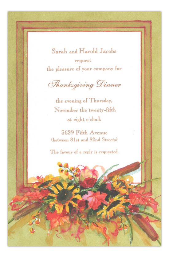 Cattails Fall Party Invitation